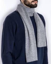 Men's Pure Cashmere Plain Knit Scarf