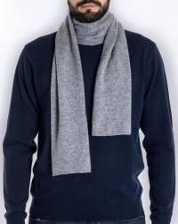 Men's Pure Cashmere Plain Knit Scarf   MaisonCashmere