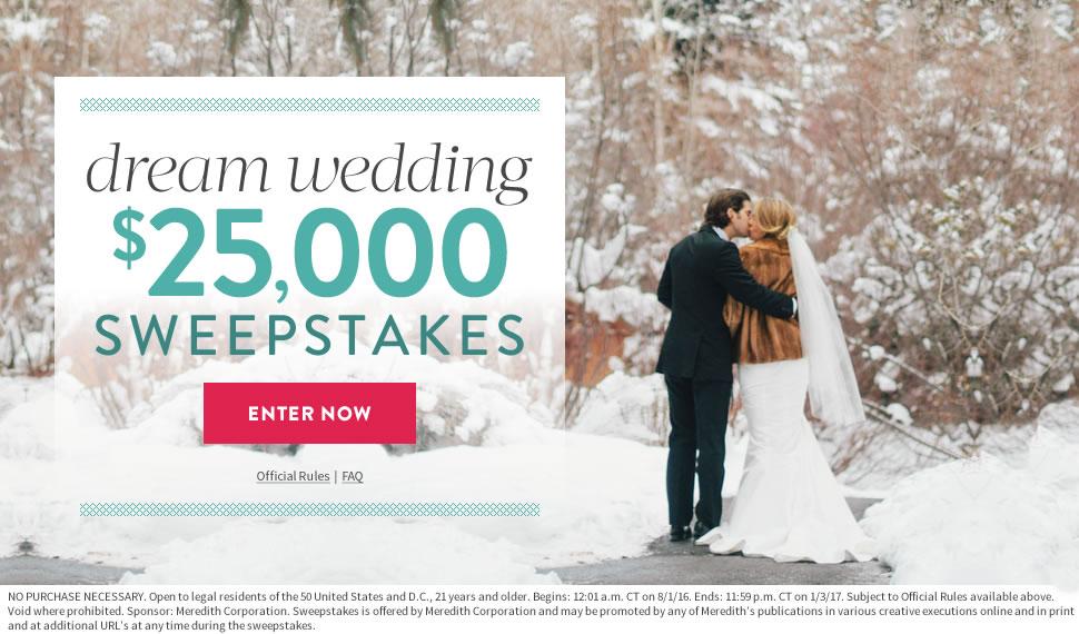 Sweepstakes Daily Stewart Martha Weddings