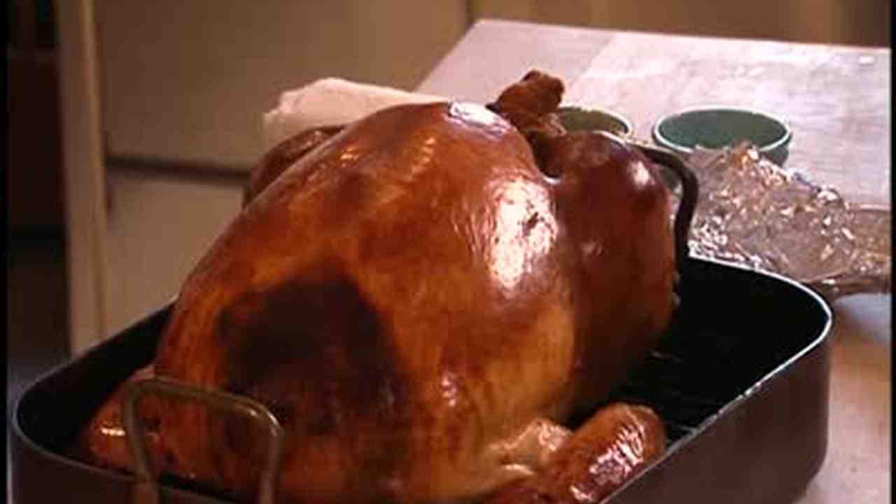 Image result for image of a roast turkey in black enamel roasting pan