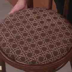 How Much Fabric To Cover A Chair Cushion Parson Chairs Cheap Video Make From Martha Stewart