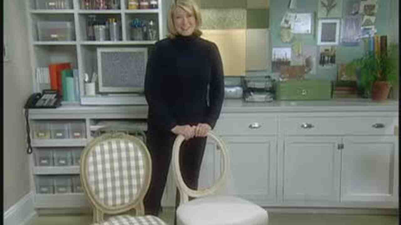 chair stool with back best outdoor rocking video how to recover a seat and martha stewart