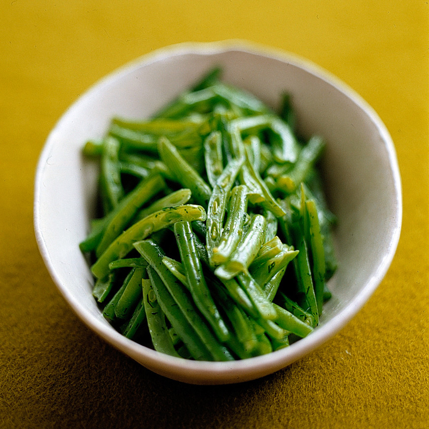 FrenchCut Green Beans With Dill Butter Recipe  Martha