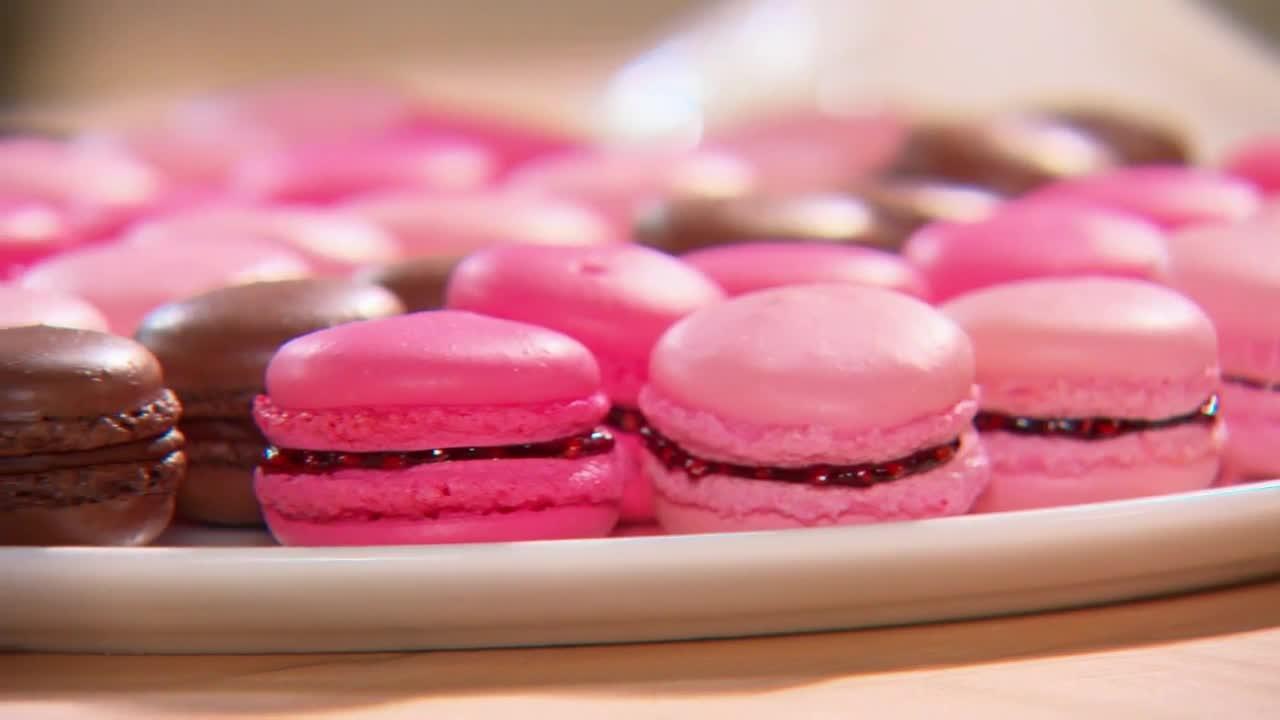 kitchen table storage valance patterns video: french macarons | martha stewart