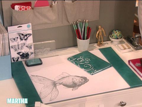 Video Desk Blotter  Martha Stewart