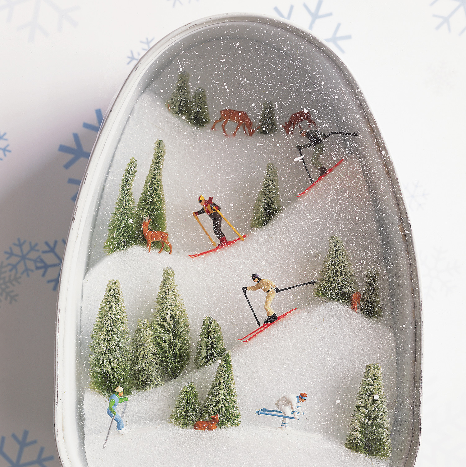 Ski Slopes Diorama Martha Stewart