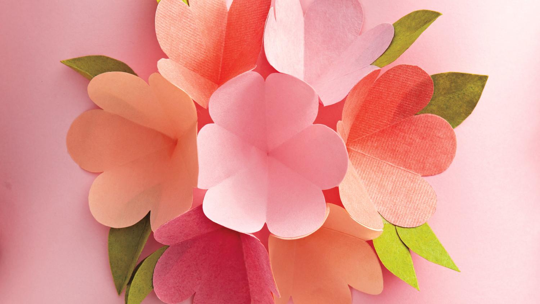 paper flower pop up card