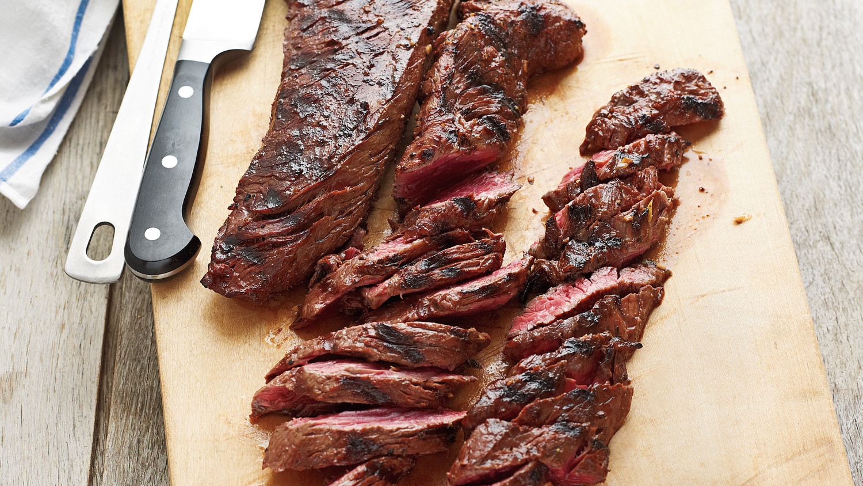 Grilled Marinated Hanger Steak
