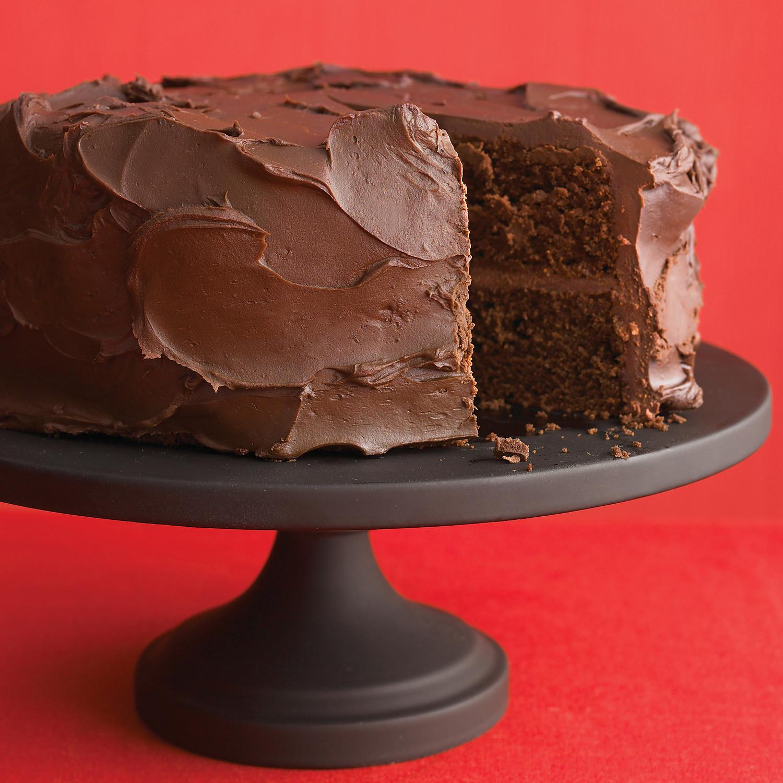 DarkChocolate Cake with Ganache Frosting Recipe  Martha