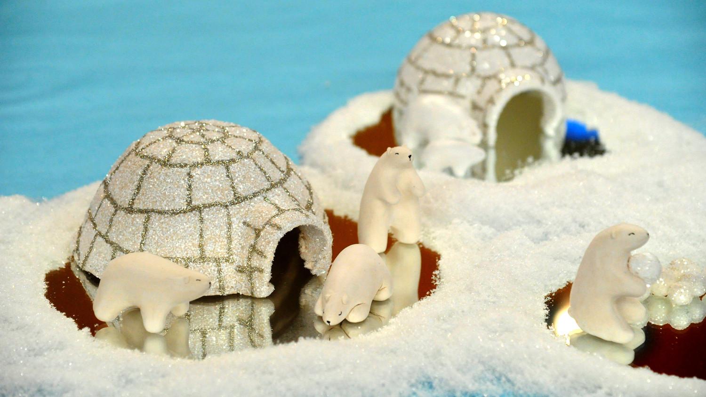 kitchen decor styles small chairs clay polar bears and igloo & video | martha stewart