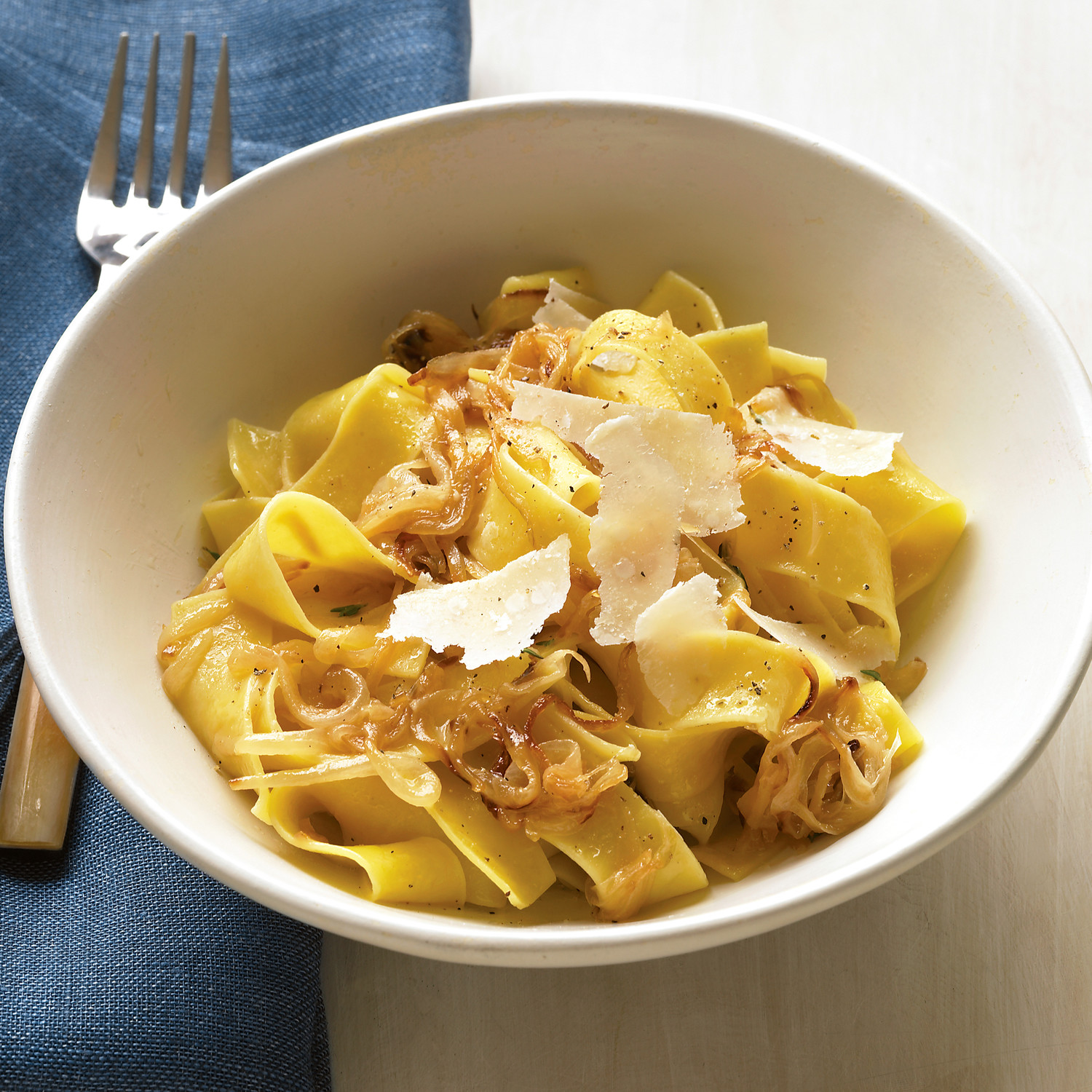 Pappardelle With Caramelized Onions And Parmesan Recipe