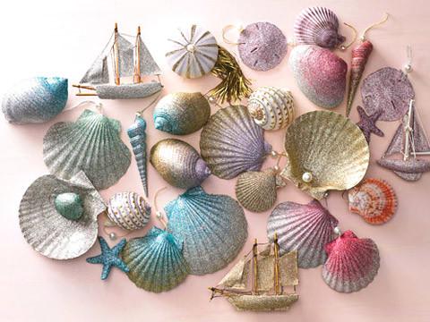 bathtub chair for baby stand furniture ombre glittered seashell ornaments & video | martha stewart