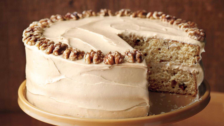 MapleWalnut Cake with BrownSugar Frosting