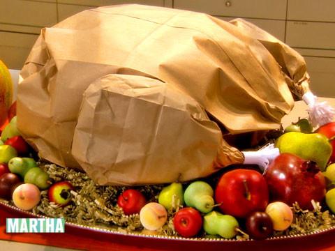 Video PaperBag Thanksgiving Turkey HowTo  Martha Stewart