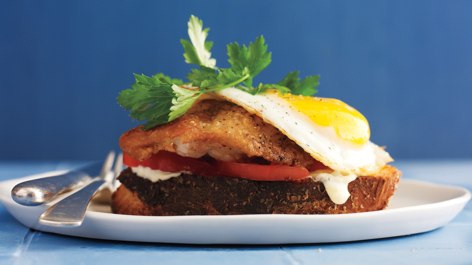 CrispyChicken and Egg Sandwich
