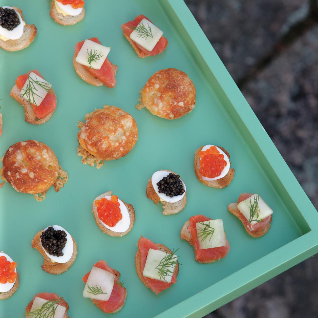 Deviled Quail Eggs with Caviar