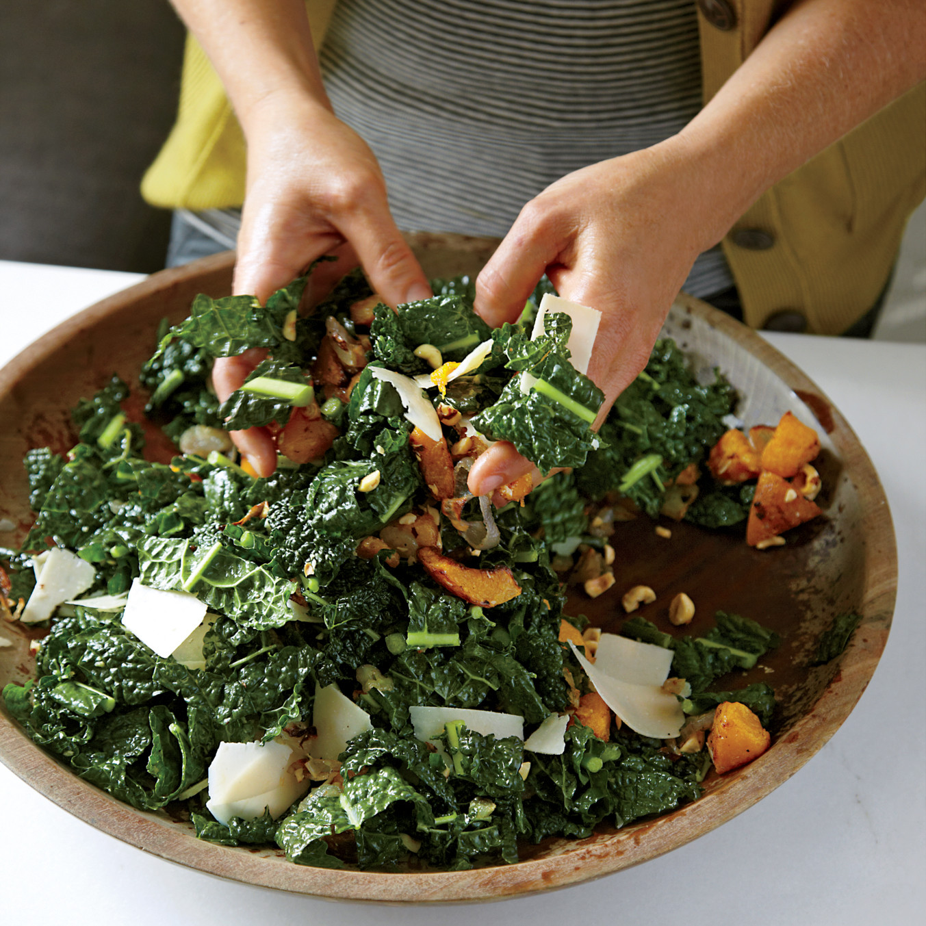 Lacinato Kale Salad with Roasted Squash