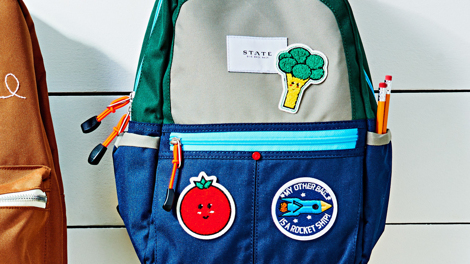 Backpack with Ironon Patches  Martha Stewart