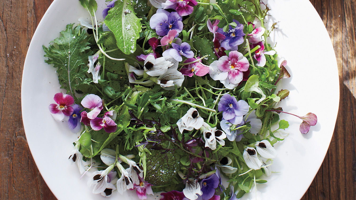 Green Salad With Edible Flowers Recipe Martha Stewart