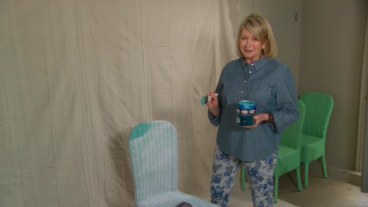 Video Ask Martha Spray Painting Wicker Chairs  Martha Stewart