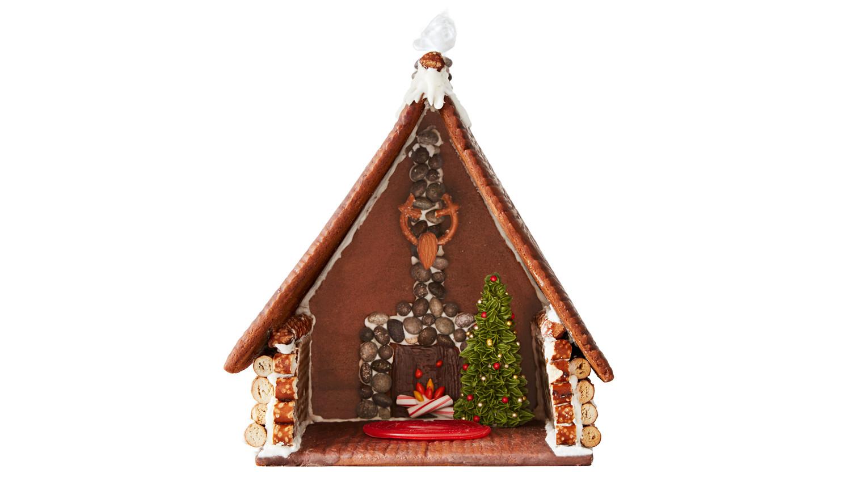 Gingerbread Cabin HowTo  Martha Stewart