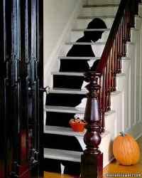 Staircase Silhouette Halloween Decorations | Martha Stewart