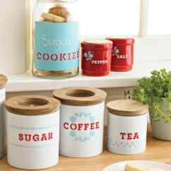 Kitchen Containers Cutler And Bath Stenciled Storage