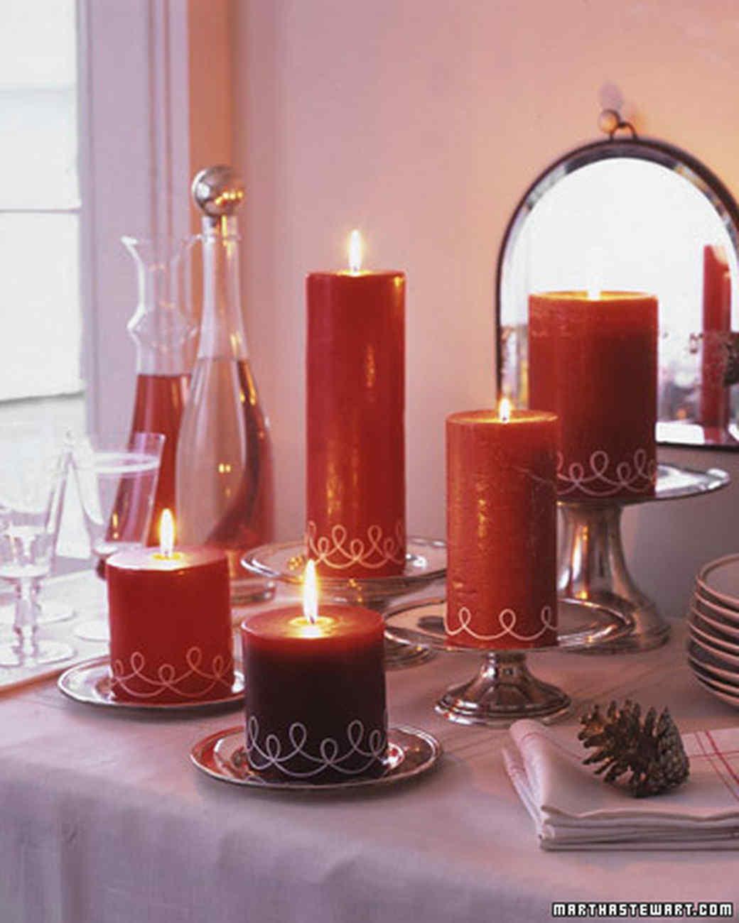 SwirledString Candles  Martha Stewart