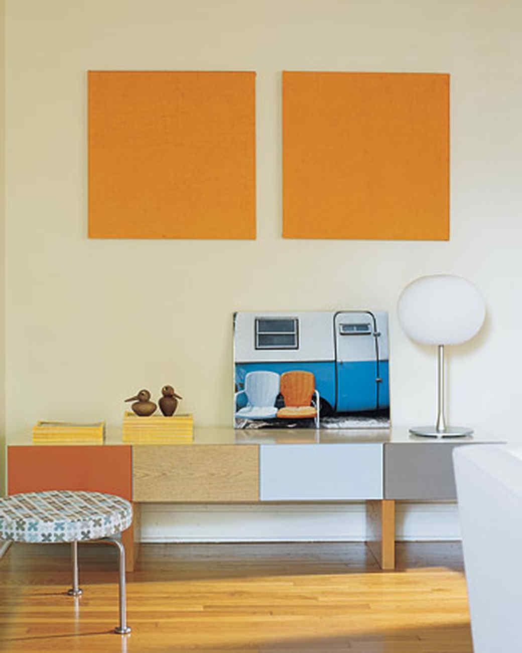 orange living room walls navy blue rug rooms martha stewart
