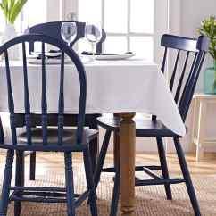 Diy Painted Windsor Chairs White Chair Wooden Martha Stewart Plaid Decor