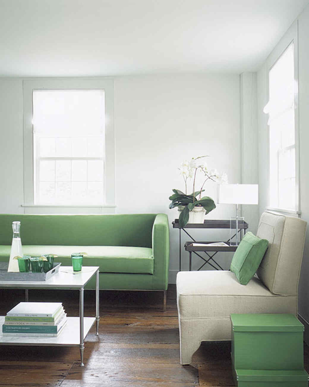 modern colour schemes for living room grey sofa curtains uk green rooms | martha stewart
