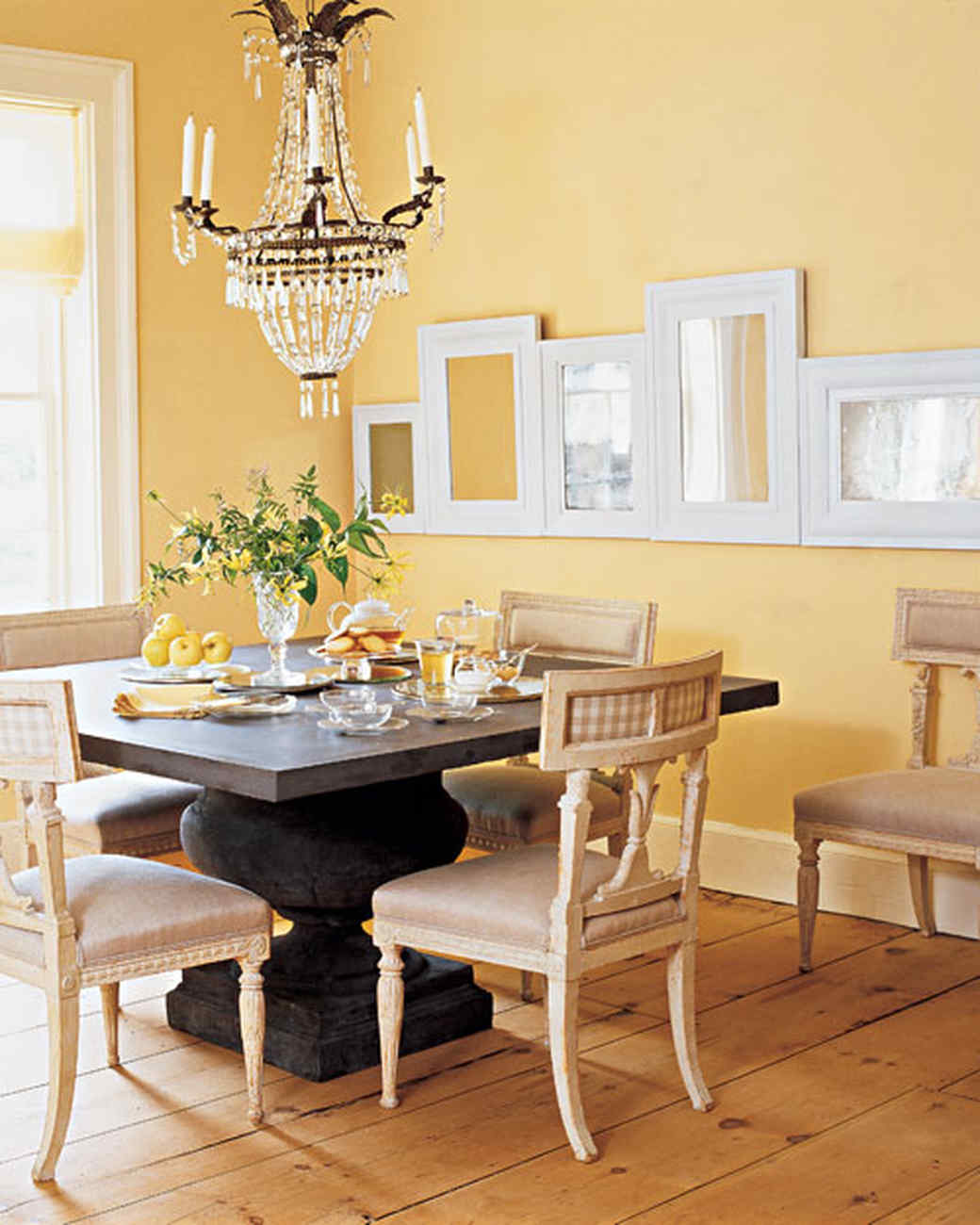 decorating with light yellow walls living room formal set rooms martha stewart
