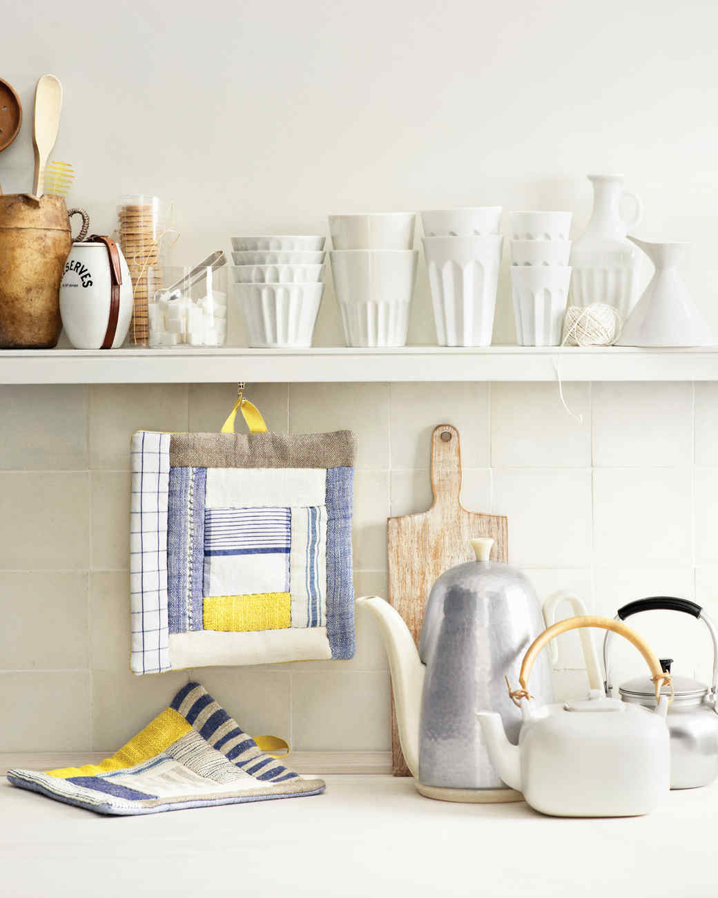 martha stewart kitchen towels towel hanger quilted potholders with inside out quilting technique