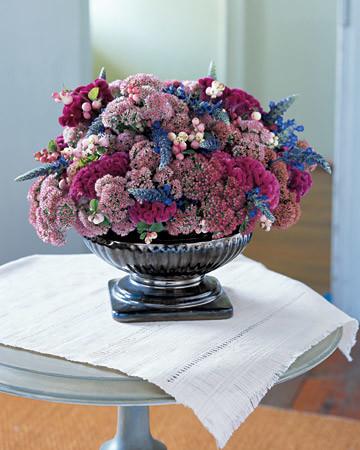 Jewel Toned Flower Arrangement Martha Stewart