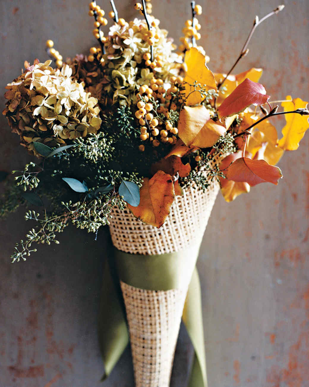 Autumnal Door Arrangements Martha Stewart