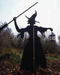 Witch and Cat Lawn Ornaments | Martha Stewart