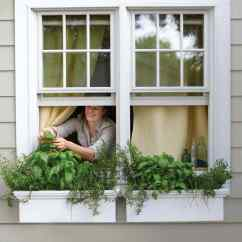 Garden Kitchen Window Island With Trash Can Small Space Ideas Martha Stewart