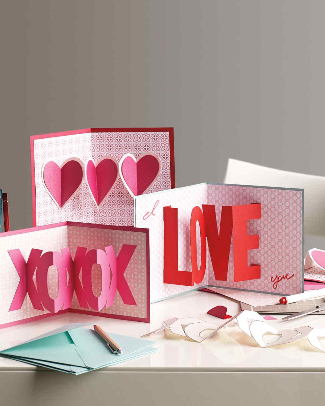 3 D Valentine S Day Cards Martha Stewart