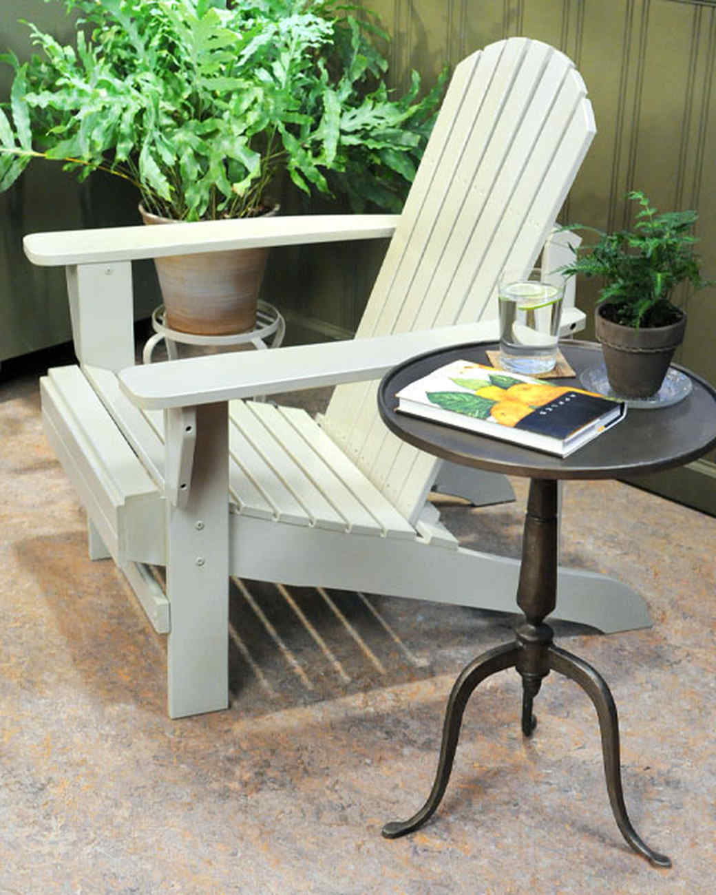 ideas for painting adirondack chairs patio swing chair with stand and video martha stewart