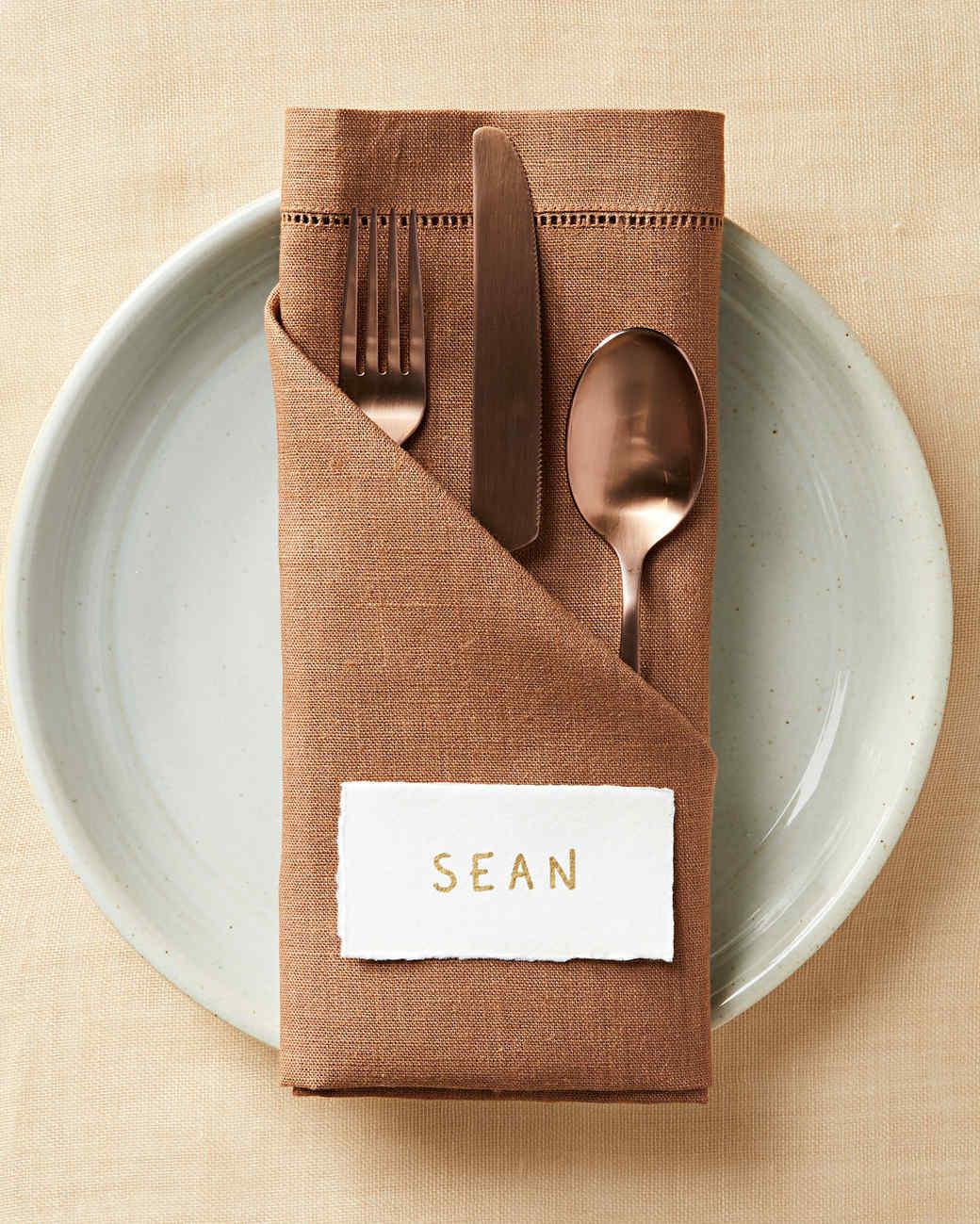 angled pocket napkin fold