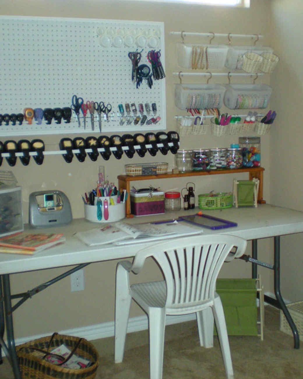 Martha Stewart Craft Room Organization