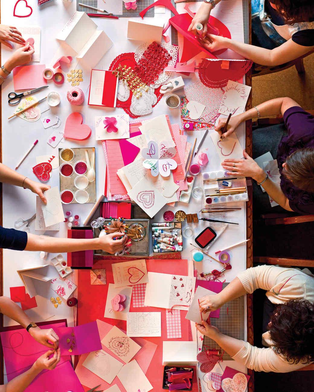 Valentine S Day Crafternoon Party Martha Stewart