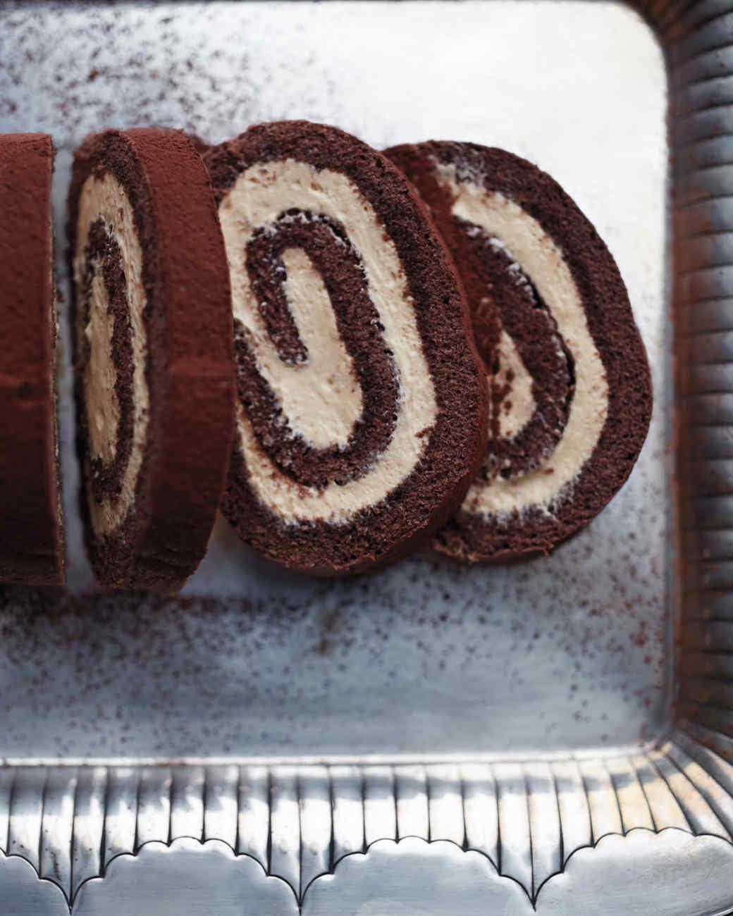 Chocolate Swiss Roll Cake