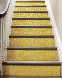 Wallpapered Stairs   Martha Stewart