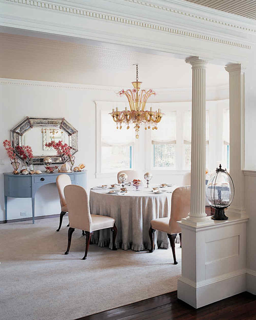 marble top table with 4 chairs sofa and chair covers canada martha's lily pond lane home | martha stewart