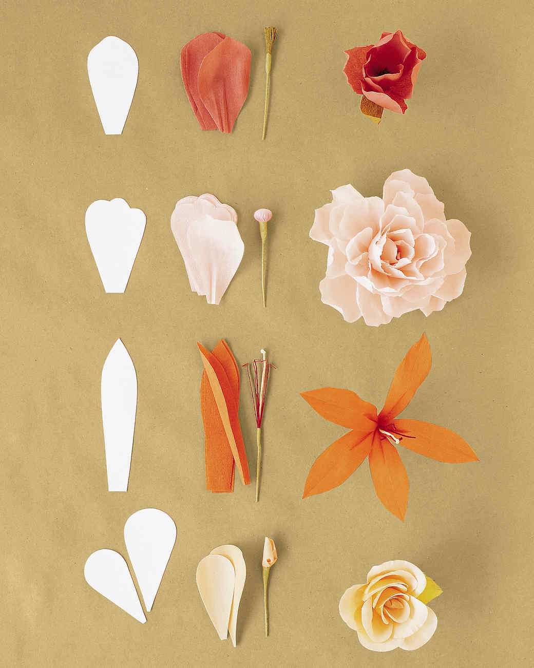 how to make flower out of crepe paper