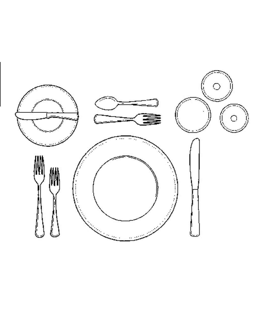 Afternoon Tea Table Setting Diagram