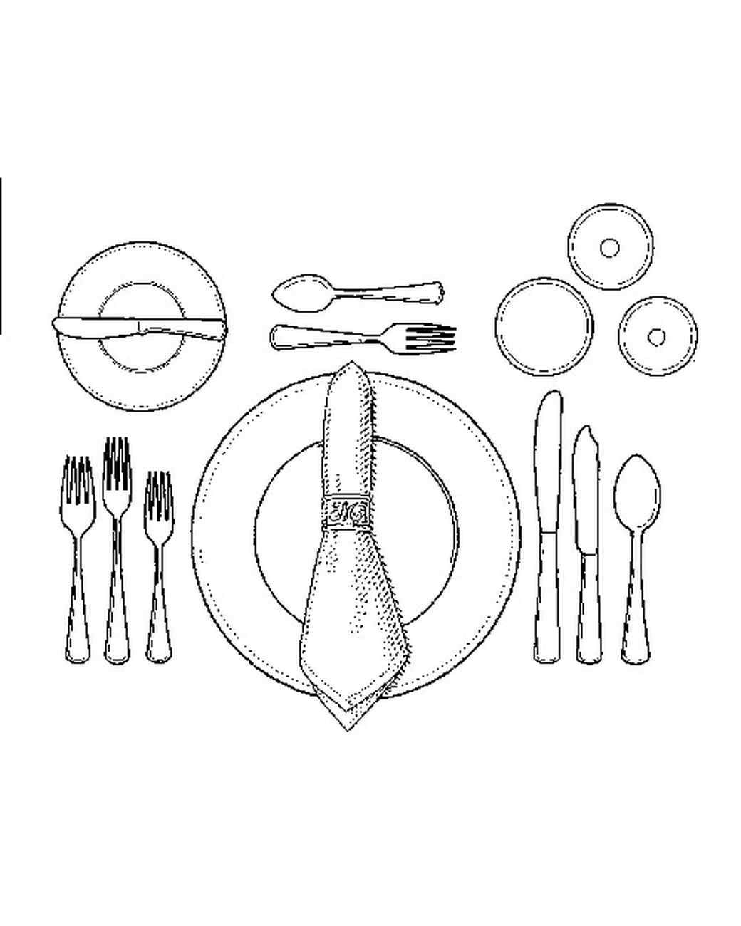 medium resolution of table setting diagram including champagne