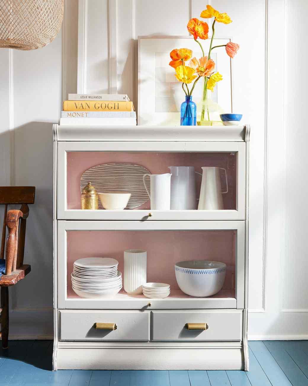 Painted Wood Barrister Bookcase Martha Stewart