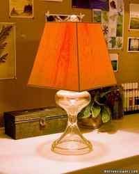 Wood Veneer Lampshade | Martha Stewart